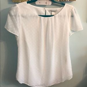 WHBM Short Sleeve Textured Tee